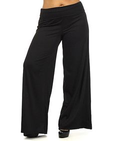 $14.99 Love this Black Palazzo Pants - Plus on #zulily! #zulilyfinds CLICK ON THE LINK BELOW! http://www.zulily.com/invite/jgelpi161