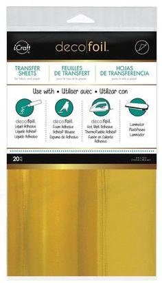"Deco Foil Transfer Sheet 6""X12"" 20/Pkg - Gold"