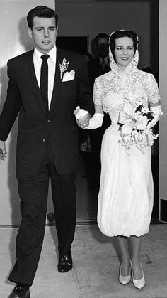 Celebrity weddings - Robert Wagner & Natalie Wood 1950's wedding 4 via National Vintage wedding fair blog