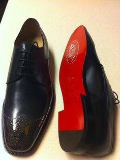 Louboutins for men..mind blown. Now men can enjoy the privilege of paying a ridiculous amount of money for a red sole..