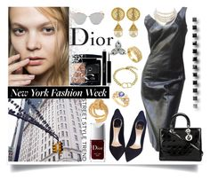 """""""NYFW Outfit (Dior)"""" by jeneric2015 ❤ liked on Polyvore featuring Christian Dior, Vintage and Susan Caplan Vintage"""