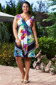 Women's Plus Size Cover Ups - Always For Me Cover Butterfly Wrap Dress Style #68734 - Size 1X-3X - JUST ARRIVED
