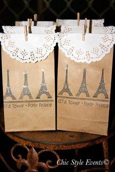 Favors at a Paris birthday party #paris #partyfavors