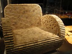 Wine cork chair. Now I know what to do with all my old wine corks!