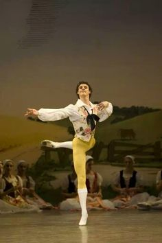 Iain Mackay, Birmingham Royal Ballet. As Colas, La fille mal gardee. Photo Bill Cooper