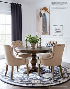 17 Classy Round Dining Table Design Ideas British Colonial Style