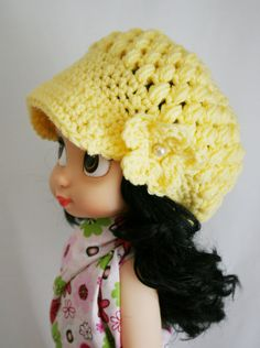 Disney Animator Doll Crochet Newsboy Cap by ElibeeCreations