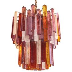 Whimsical  coloured Murano chandelier | From a unique collection of antique and modern chandeliers and pendants  at http://www.1stdibs.com/furniture/lighting/chandeliers-pendant-lights/