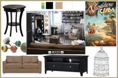 Living Room Design Board