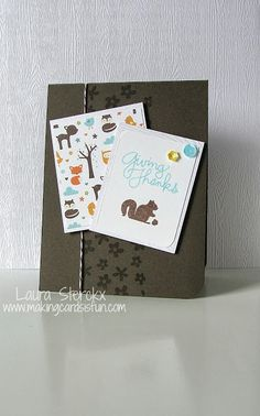"""A card made by me using the Simon Says Stamp October 2013 """"Season of Giving"""" Card Kit!"""