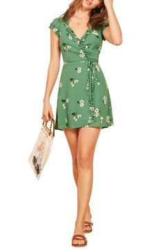Looking for Reformation Garnet Floral Wrap Minidress ? Check out our picks for the Reformation Garnet Floral Wrap Minidress from the popular stores - all in one. Cute Dresses, Casual Dresses, Short Dresses, Casual Clothes, Cotton Dresses, Casual Outfits, Garnet Dress, Divas, Vacation Dresses