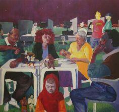 Arthur Arnold / Jantar em Familia / Acrílica sobre tela - 2011 - 180 x 200 cm