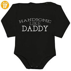 Handsome Like Daddy Baby Romper Long Sleeve Bodysuit Extra Small - Baby bodys baby einteiler baby stampler (*Partner-Link)