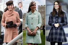 So langsam sieht man was! Kate Middleton hüllt ihren wachsenen Babybauch besonders gerne in hübsche Mäntel. Wir zeigen unsere Highlights der royalen Umstandsmode!