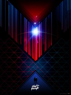 80s-style Daft Punk poster by James White.