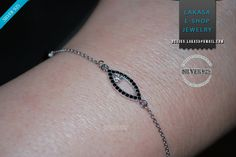 #lucky #bracelet #crystal #rhinestones 925 #sterling #silver white gold plated #jewellery #bestideasgift #forher #woman #anniversary #birthday #girlfriend bracelet strass eye princess jewelry chain sterling silver cute design baptism forher gifts_mother day happy woman anniversary birtday bestideas best price handmade princesa necklace girl
