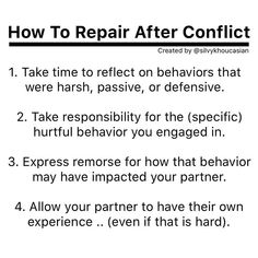 Being able to engage in repair is a necessary relationship skill. I have seen so many couples part ways when one partner isn't capable (or… Communication Relationship, Relationship Advice, Conversation Starters For Couples, Meditation, Healthy Relationships, Military Relationships, Emotional Intelligence, Note To Self, Marriage Advice