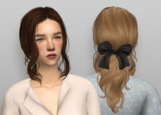 NewSea's SnowCorridor hair 4t2 | evannamari Sims New, The Sims 2, The Sims 4 Packs, Sims 4 Mods Clothes, Sims 4 Clothing, Classic Hairstyles, Cute Hairstyles, Sims 2 Makeup, Sims 4 Challenges