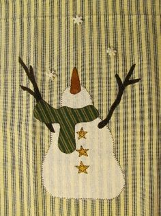 Tasting Snowflakes Tea Towel Pattern PDF from Quilt Doodle Designs