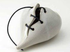 Ceramic Mended Heart  OOAK broken heart by BridgemanStudios, $40.00