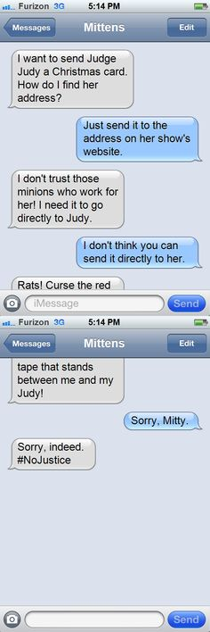 Daily Texts from Mittens: The No Justice Edition
