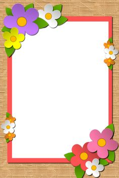 Frame Border Design, Boarder Designs, Page Borders Design, Flower Background Design, School Border, Teacher Classroom Decorations, Certificate Design Template, Free Printable Stationery, Boarders And Frames