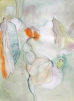 Marsha Boston, Putting it together 2013, Watercolor and ink on paper