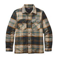 Patagonia Men\'s Insulated Fjord Flannel Jacket - Sugar Pine: El Cap Khaki SPEC