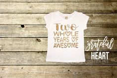 Two shirt two year old birthday shirts 2nd by Gratefulheartapparel