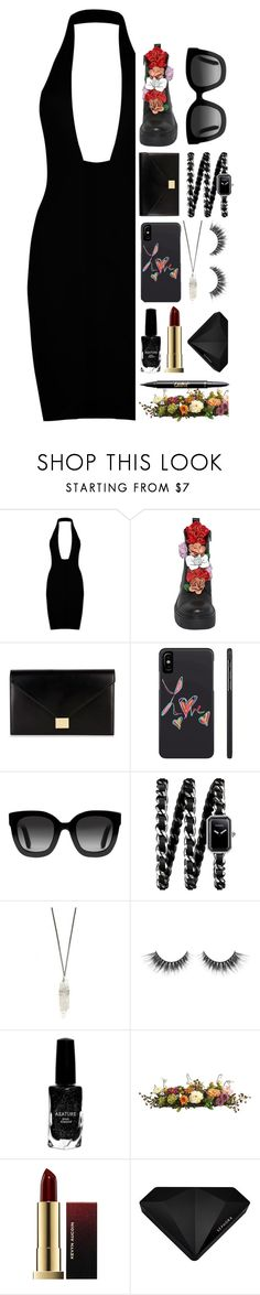 """""""Hey Violet"""" by sofemmeia ❤ liked on Polyvore featuring Victoria Beckham, Gucci, Chanel, Azature, Nearly Natural, Kevyn Aucoin and Sephora Collection"""