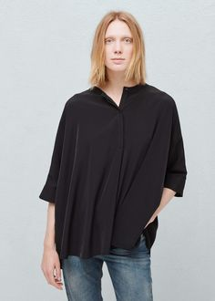 Oversized bluse - Blusen für Damen | MANGO Deutschland