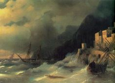 Буря на море - 1850 год