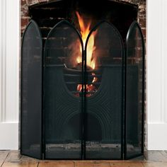 The Marlowe Four Screen Fireguard is an# attractive solution to making your #fire safe and beautiful.