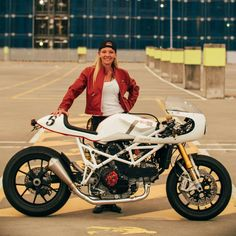 Another shot of Fiona's 'El Bastardo' Shed X Ducati. (via Throttle Roll |  by Stories of Bike)
