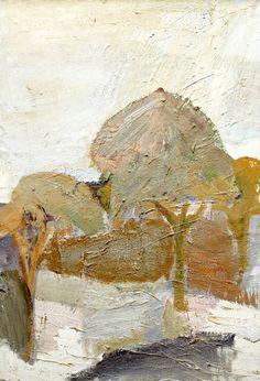 """Evert Lundquist 1904‑1994. Motif from Drottningholmsparken"""""""