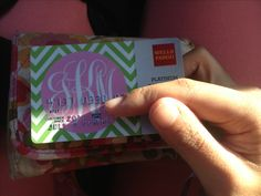 Monogram debit card! Totally free if you haven't used the Wells Fargo Design Studio. I had to do the monogram myself