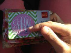 Monogram debit card! Totally free if you haven't used the Wells Fargo Design Studio. I had to do the monogram myself