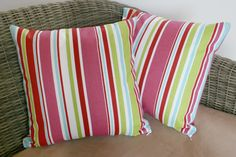 Bright Striped 16 Cushion Cover by BlossomvioletCrafts on Etsy