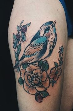 Magdalena Pliszka bird tattoo