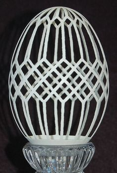 Goose Egg Carved With a Pattern Modeled From a Stained Glass Window by bbaitystudio, via Flickr