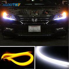 60cm LED Car Headlight Flexible Strip Daytime Running Light Turn Signal Lamp DRL For Honda VW BMW Audi Ford Subaru Nissan Mazda