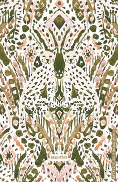 CHEETAH FRIEND Ikat Tribal Golden Peach