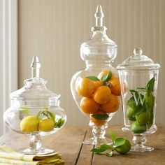 Apothecary Jar Display Ideas - lots of great ways to display collections and supplies by showcasing them in jars - via Driven by Decor Glamour Decor, Glass Jars, Mason Jars, Glass Containers, Glass Canisters, Sea Glass, Apothecary Jars Decor, Apothecary Bathroom, Jar Fillers