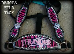 Custom Zebra Cheek Halter - DEUCES WILD TACK LLC