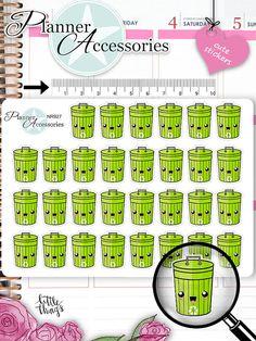 Kawaii Trash Stickers Garbage Stickers by EmelysPlannerShop