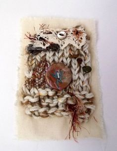 Mixed Media Wall hanging by Rowenberrystitches on Etsy, £16.00