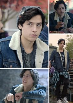 Jughead Outfit Denim Sherpa Jacket #riverdale #colesprouse