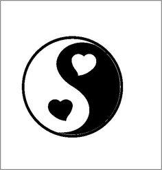 Way Cute :) Ying Yang / Heart Ying Yang/ Love Balance/ Vinyl by CeeJaysDecals, $8.00