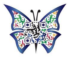 butterfly #QR code. #qrcode