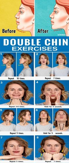 7 Most Effective Exercises to Get Rid of a Double Chin